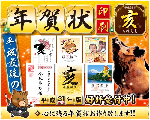 2019年賀状印刷好評受付中(中)